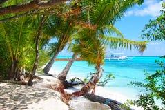 Opinión aérea de Maldivas Imágenes de archivo libres de regalías