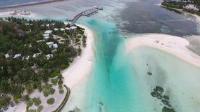 Opinión aérea de Maldivas metrajes