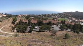 Opinión aérea de Malibu almacen de metraje de vídeo