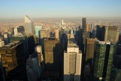 Opinión aérea de Manhattan, Nueva York fotografía de archivo libre de regalías