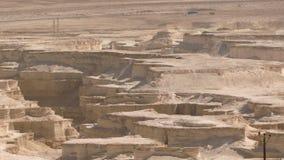 Opinión aérea de Masada almacen de metraje de vídeo