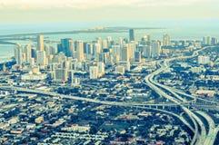 Opinión aérea de Miami Fotos de archivo libres de regalías