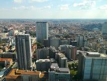 Opinión aérea de Milán Ciudad de Milano, Italia fotos de archivo