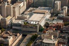 Opinión aérea de Montreal Imágenes de archivo libres de regalías