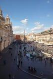 Opinión aérea de Navona de la plaza imagen de archivo libre de regalías