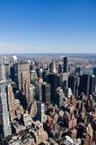 Opinión aérea de New York City fotos de archivo