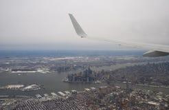 Opinión aérea de New York City Fotografía de archivo