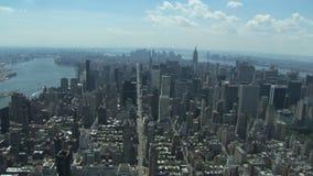 Opinión aérea de New York City metrajes