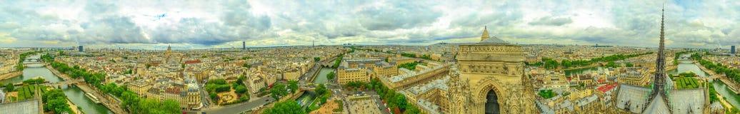 Opinión aérea de Notre Dame Fotografía de archivo libre de regalías
