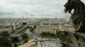 Opinión aérea de Notre Dame almacen de metraje de vídeo
