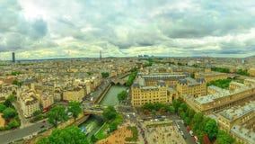 Opinión aérea de Notre Dame metrajes