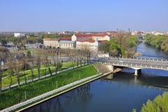 Opinión aérea de Oradea foto de archivo