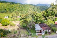 Opinión aérea de Panamá de la provincia del chiriqui de Boquete en septiembre Fotografía de archivo
