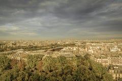 Opinión aérea de París Foto de archivo libre de regalías