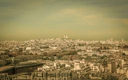 Opinión aérea de París Fotos de archivo libres de regalías
