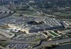 Opinión aérea de Pentágono Foto de archivo