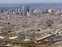 Opinión aérea de Philadelphia Pennsylvania Imagen de archivo