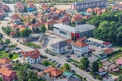 Opinión aérea de Podgorica Imagen de archivo libre de regalías