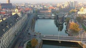 Opinión aérea de Powodzianka almacen de video
