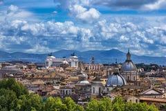 Opinión aérea de Roma Imágenes de archivo libres de regalías