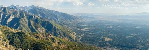 Opinión aérea de Salt Lake City fotos de archivo