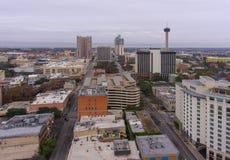 Opinión aérea de San Antonio, Tejas, los E.E.U.U. foto de archivo
