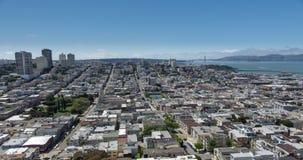 opinión aérea de San Francisco metrajes