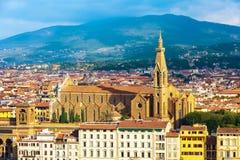 Opinión aérea de Sante Croce, Florencia, Italia fotografía de archivo libre de regalías