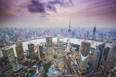 Opinión aérea de Shangai Imágenes de archivo libres de regalías