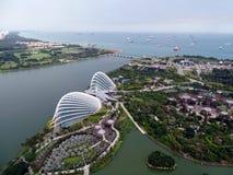 Opinión aérea de Singapur 25 de septiembre de 2016 - de Singapur Imagen de archivo libre de regalías