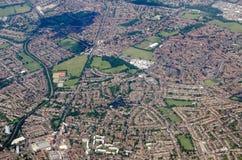 Opinión aérea de Sutton y de Morden Imagenes de archivo