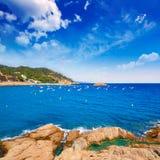 Opinión aérea de Tossa de Mar en Costa Brava de Girona Imagen de archivo libre de regalías