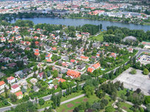 Opinión aérea de Viena, Austria Imagen de archivo