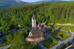 Opinión aérea de Wang de la parroquia del Lutheran imágenes de archivo libres de regalías