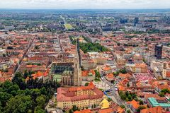 Opinión aérea de Zagreb fotografía de archivo libre de regalías