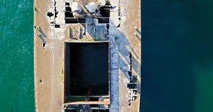 Opinión aérea del abejón de la nave vieja del fantasma del naufragio Fotografía de archivo