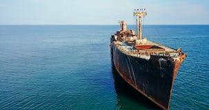 Opinión aérea del abejón de la nave vieja del fantasma del naufragio Imagenes de archivo