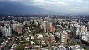 Opinión aérea del abejón de Santiago la capital de Chile Fotos de archivo