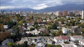 Opinión aérea del abejón de Santiago la capital de Chile Imágenes de archivo libres de regalías