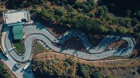 Opinión aérea del abejón la raza del kart, Turquía metrajes