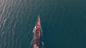 Opinión aérea del barco almacen de video