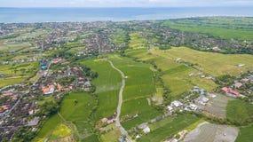 Opinión aérea del campo del arroz Imágenes de archivo libres de regalías