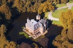 Opinión aérea del castillo Foto de archivo