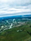 Opinión aérea del delta del río Misisipi Fotografía de archivo