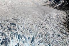 Opinión aérea del glaciar Imagen de archivo libre de regalías