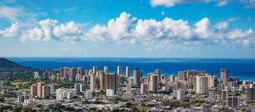 Opinión aérea del horizonte de Hawaii Fotos de archivo