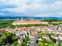 Opinión aérea del monasterio de Melk Foto de archivo
