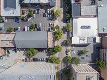 Opinión aérea del ojo del ` s del pájaro del abejón de la ciudad de Raleigh, NC Fotos de archivo libres de regalías