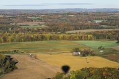 Opinión aérea del país el Estado de Nueva York central Foto de archivo libre de regalías