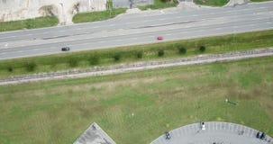 Opinión aérea del paisaje americano suburbano metrajes